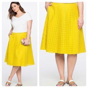 Eloquii Gillian Eyelet Skirt